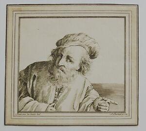 Originalradierung Adam von Bartsch (1757-1821) Guercina da Cento