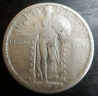 1918-S Standing Liberty Quarter Extremely Fine XF EF + Strong Full Date