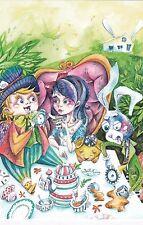 RARE Alice in Wonderland Mad tea party by Konovalova Russian modern postcard