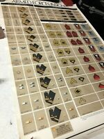 Vintage 1975 US Army Navy Armed Forces Insignia Patch Identification Poster