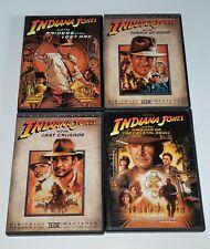 Indiana Jones 4 Dvd Lot Raiders Temple of Doom Last Crusade Kingdom of Crystal.