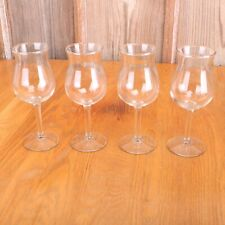 4 Clear Glass Tall Goblets Wine Water