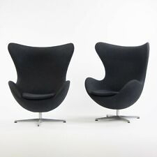 2013 Egg Chair by Arne Jacobsen for Fritz Hansen Original Fabric Denmark Gray