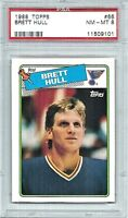 Brett Hull St. Louis Blues 1988-89 Topps Card #66 RC PSA NM-MT 8