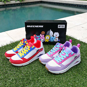 100% Authentic UNO BT21 SKECHERS Sneakers Line Friends Limited Edition