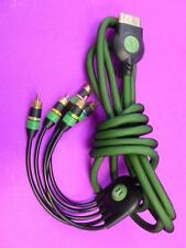* Monster Official Original Xbox AV Component Cable Cord Black / Green WORKS!