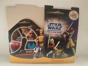 The Clone Wars Film 2008 STAR WARS HAPPY MEAL BOX Australia McDonalds - NEW