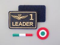 PATCH KIT AQUILA AERONAUTICA MILITARE LEADER 1 RICAMATA CM 8X5 CON NASTRO STRIP