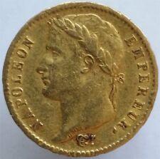 1813 GOLD 20 FRANCS FRANCE,NAPOLEON I, SCARCE, NICE CONDITION