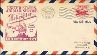 USA HELICOPTER AIR MAIL 1st FLIGHT Cover Oct. 24, 1949 ILLINOIS - NEW YORK