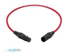 Mogami 2534 Quad Cable | Neutrik Gold XLR-F XLR-M | Red 3.5 Feet | 3.5 Ft. 3.5'