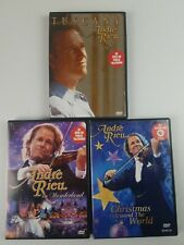 Andre Rieu DVD set of 3 Tuscany, In Wonderland, Christmas around the world