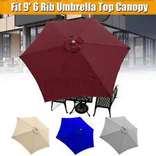 Patio Umbrella Top Sun Parasol Replacement Cover fit 9' 6 Arm Canopy !