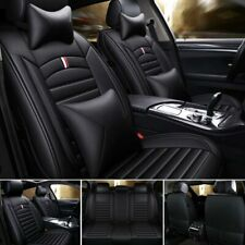 5-Sit Luxury Pu Leather Car Seat Cover Front+Rear Cushions Universal Updated Set (Fits: Gmc Safari)