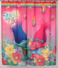 "New Dreamworks Trolls Fabric Shower Curtain 72"" x 72"" HUGFEST"