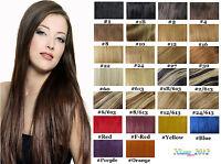 """18""""-26"""" Remy Real Human Hair Extensions Micro Loop Tip 100S Black Brown Blonde"""