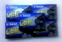 Lot (5) Cassettes BASF CE II 120 Chrome Extra Neuves NEW SEALED