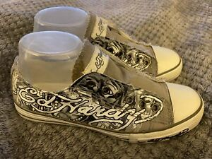 Ed Hardy Womens Laceless Embellished Sneakers MSRP $90 Size 8