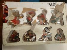 New Traditions Collectable Bear Ornaments lot of 8 Holiday teddy bear gift set