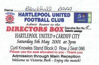 Ticket - Hartlepool United v Cardiff City 05.05.01