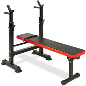Best Choice Products Adjustable Barbell Rack and Weight Bench - Black