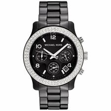 Michael Kors Watches MK5190 Black Ceramic Chronograph Ladies Watch