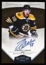 10-11 Panini Dominion JORDAN CARON Rookie AUTO Boston Bruins 174/199