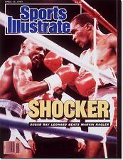 April 13, 1987 Marvin Hagler and Sugar Ray Leonard Sports Illustrated NO LABEL