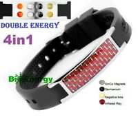 Anion Magnetic Energy Germanium Power Bracelet Health 4in1 Bio Armband BAND