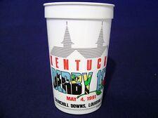 1991 KY KENTUCKY DERBY MINT JULEP PLASTIC INFIELD GLASS OFFICIAL CHURCHILL DOWNS
