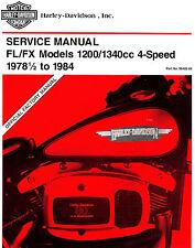 1978 to 1984 HARLEY-DAVIDSON FL / FX SERVICE MANUAL -FLH-FLHS-FXWG-FXE-FXSB