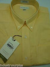 Cutter & Buck Men's Yellow Button Down Wrinkle Resistant SS Shirt Size XL