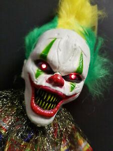 Halloween animierte Grusel Clown Deko Figur Licht,Sound,Bewegung NEU