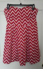 RUE 21 WOMENS MEDIUM RED & WHITE ONE PIECE HALTER TOP MINI DRESS NEW WITH TAG