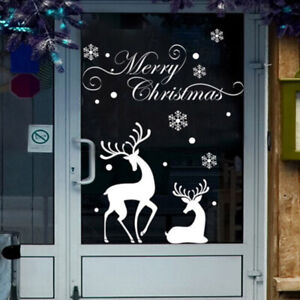 Elk Wall Stickers Window Decals Murals New Year Christmas Stickers HO