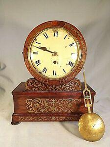 Regency Inlaid Brass Rosewood Fusee Bracket Clock For Restoration.