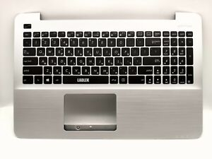 HE Israel Hebrew keyboard for Asus X555LA X555LB X555LD X555LP silver palmrest