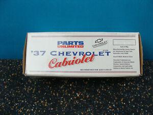 NOS Parts Unlimited Liberty Classics Spec Cast 1937 Chevrolet Cabriolet Bank #1