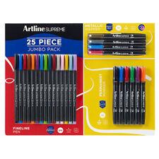 25pc Artline Supreme Jumbo Pack w/Fineliner Pen/Metallic/Permanent Markers