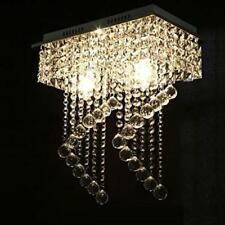 Crystal Shades Chandelier Lighting Dining Room Ceiling Silver Light Modern Lamp
