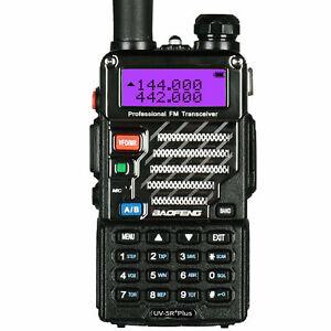 BAOFENG UV-5R PLUS 2M/70CM WALKIE-TALKIE VHF UHF 5WATT HANDHELD HAND-FUNKGERÄT