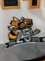 SARNIA STING GAME WORN JERSEY 25TH ANNIVERSARY PATCH COA CHL OHL