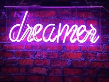 New Dreamer Logo Acrylic Lamp Bar Artwork Neon Light Sign 14""