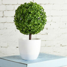 Artificial Fake Milan Ball Topiary Grass Bonsai for Home Office Decor Green
