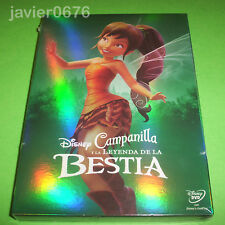 CAMPANILLA Y LA LEYENDA DE LA BESTIA DISNEY DVD NUEVO Y PRECINTADO SLIPCOVER