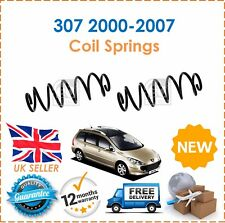 For Peugeot 307 2000-2007 Hatchback Two Rear Coil Springs Set  x2 Pair New