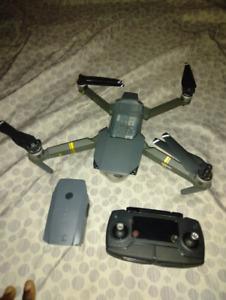 DJI Mavic Pro 4K Camera Drone Quadcopter- Gray with Controller