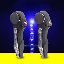 2x Cycling Bicycle Mountain Bike Handlebar Grips Handle Bar Ends with LED Light
