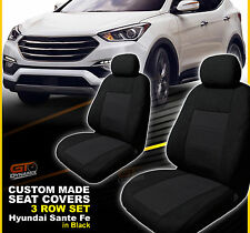 Custom Seat Covers Hyundai SANTA FE 3 ROW Set TL TLE ACTIVE X 09/2012-2018 BLACK