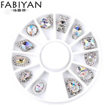 Nail Art Wheel AB Rhinestone Crystal Glitter Gems Design Jewelry Decoration Tips